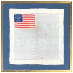 Silk Star Pattern Colorado Statehood 38 Star American Flag Handkerchief