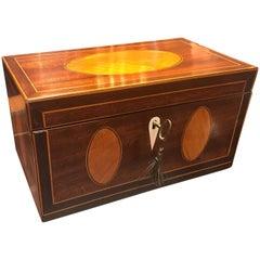 Antique English Regency Inlaid Box