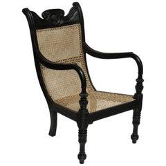 Ebony Grandfather Chair from Sri Lanka