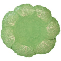 Dodie Thayer Lettuce Leaf Ware Porcelain Large Serving Tray Handcrafted
