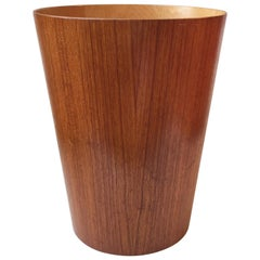 Vintage Teak Paper Waste Basket by Martin Åberg for Servex, Sweden, 1950s