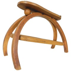 Architect Josef Hoffmann Design for Thonet Bentwood Foot Stool