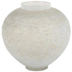 """René Lalique Opalescent Vase """"Gui"""""""