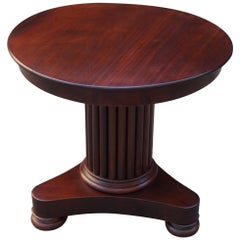 Small 19th Century Solid Mahogany Round End Table or Wine Table or Plant Stand