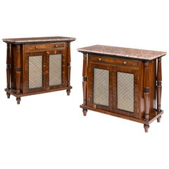 Pair of Goncalo Alves Side Cabinets Attributed to George Bullock