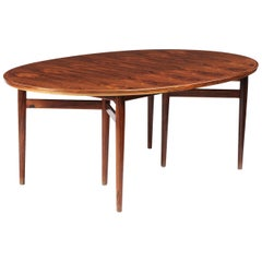 Arne Vodder Oval Dining Table Model 212 for Sibast Furniture, Denmark, 1960s