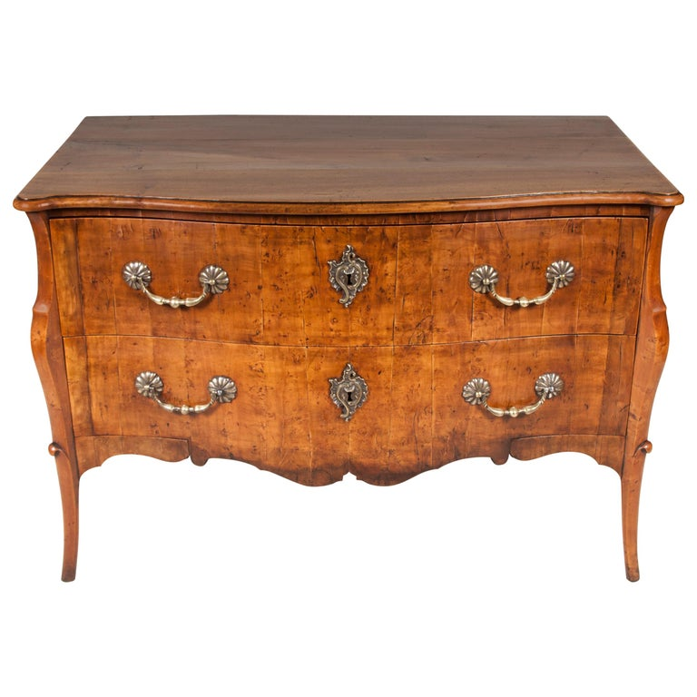 Fruitwood Bombe Commode, 18th Century