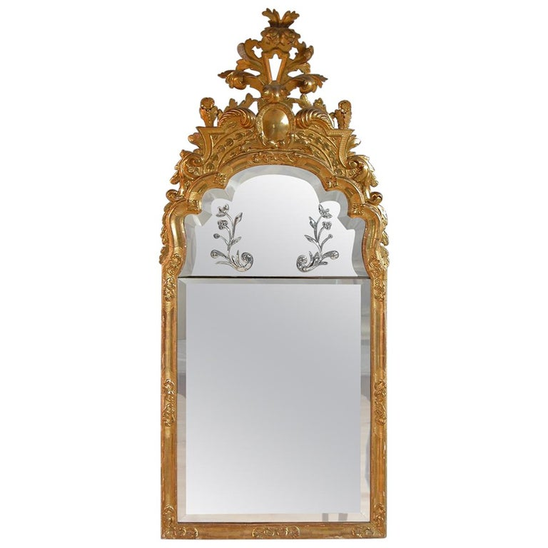 Baroque mirror attributed to Burchard Precht, ca. 1710