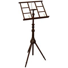 Fully Adjustable Mahogany Music Stand
