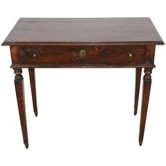 18th Century Italian Louis XVI Walnut Wood Writing Desk