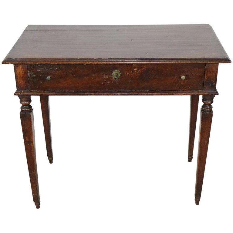 18th Century Italian Louis XVI Walnut Wood Writing Desk