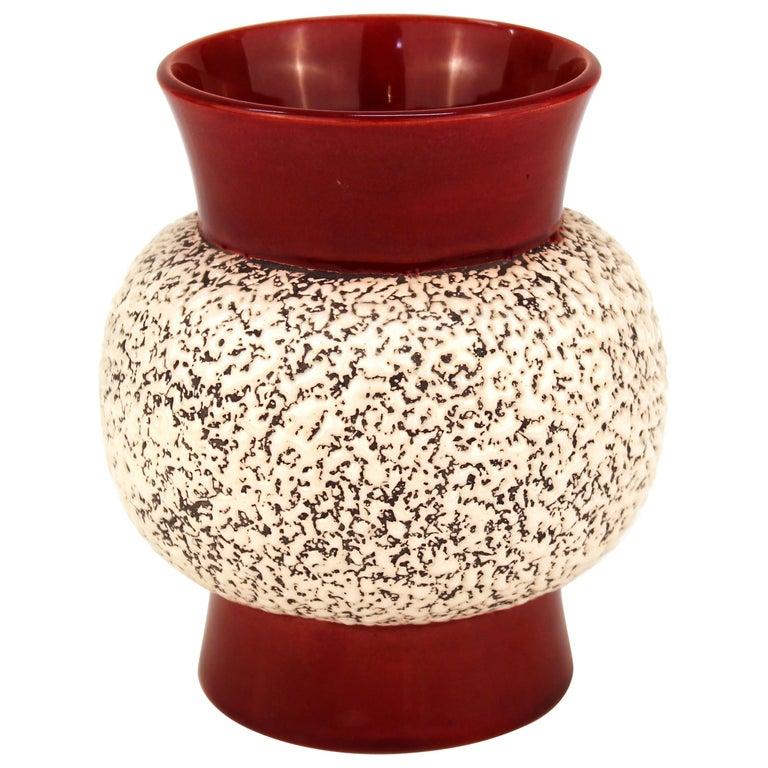 Paul Milet Art Deco Sevres Ceramic Round Vase
