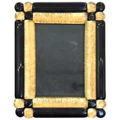 Cobalt and Gold Infused Murano Glass Picture Frame