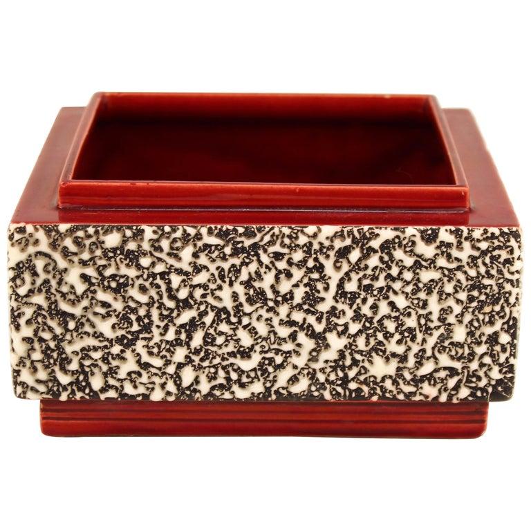 Paul Milet Art Deco Sevres Ceramic Square Container