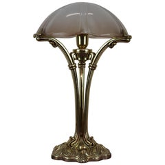 20th Century Art Nouveau Style Table Lamp in Golden Bronze
