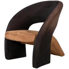 Two-Tone Modern Lounge Chair in the Manner of Pierre Paulin, Olivier Morgue