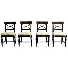 "Gustavian ""Bellman"" Chairs, Set of Four (4), Origin, Sweden, circa 1800"