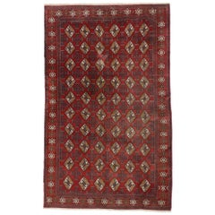 Vintage Turkmen Rug with Modern Tribal Style, Tekke Accent Rug