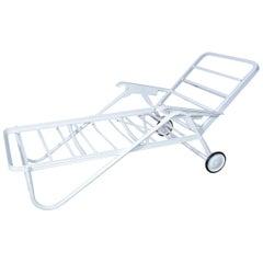 Midcentury Metal Outdoor Garden Chaise Longues