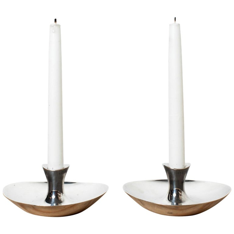 Tapio Wirkkala Candlesticks, Silver, 1966 For Sale
