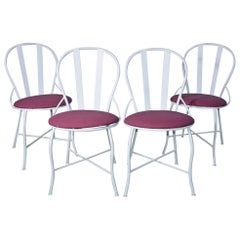 Set of Four Vintage Metal Garden Dining Chairs