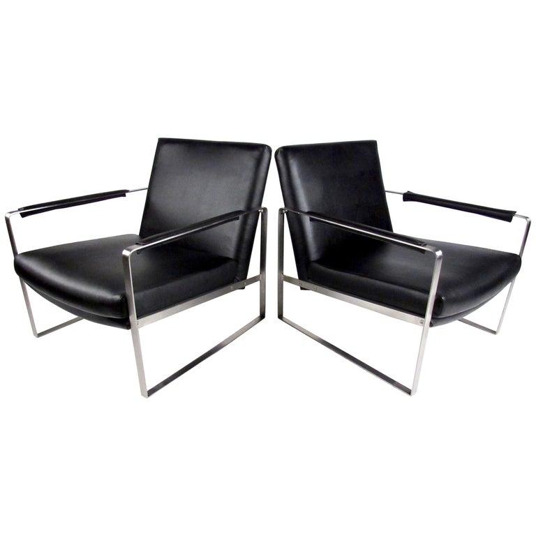 Pair of Italian Modern Lounge Chairs