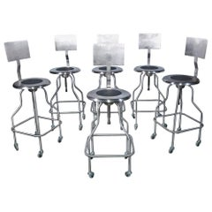 Backrest Stainless Steel Rotating Stool Saddle Chair with Ss6--Sold Singly