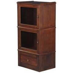 French Oak Commercial Display Cabinet, 1940s