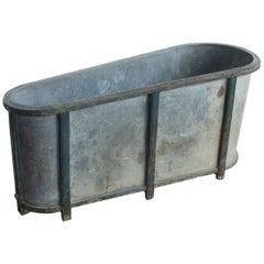 Antique English Zinc Bathtub