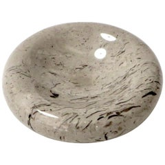 Italian Taupe Brown and Mocha Marble Bowl Vide Poche by Sergio Asti Up & Up