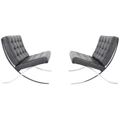 Pair of Knoll Barcelona Chairs