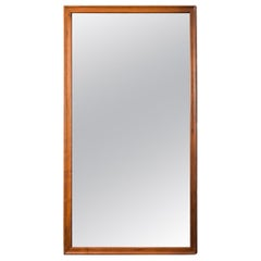 American Walnut Rectangular Floor Mirror