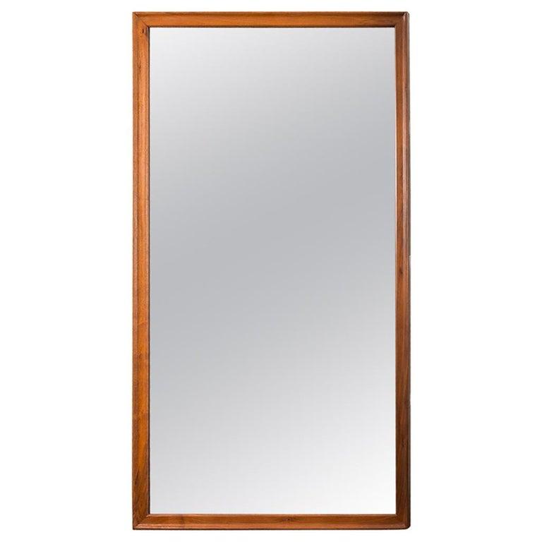 American Walnut Rectangular Floor Mirror