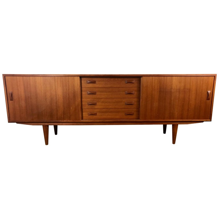 Classic Danish Modern Teak Credenza, Sideboard, Arne Vodder