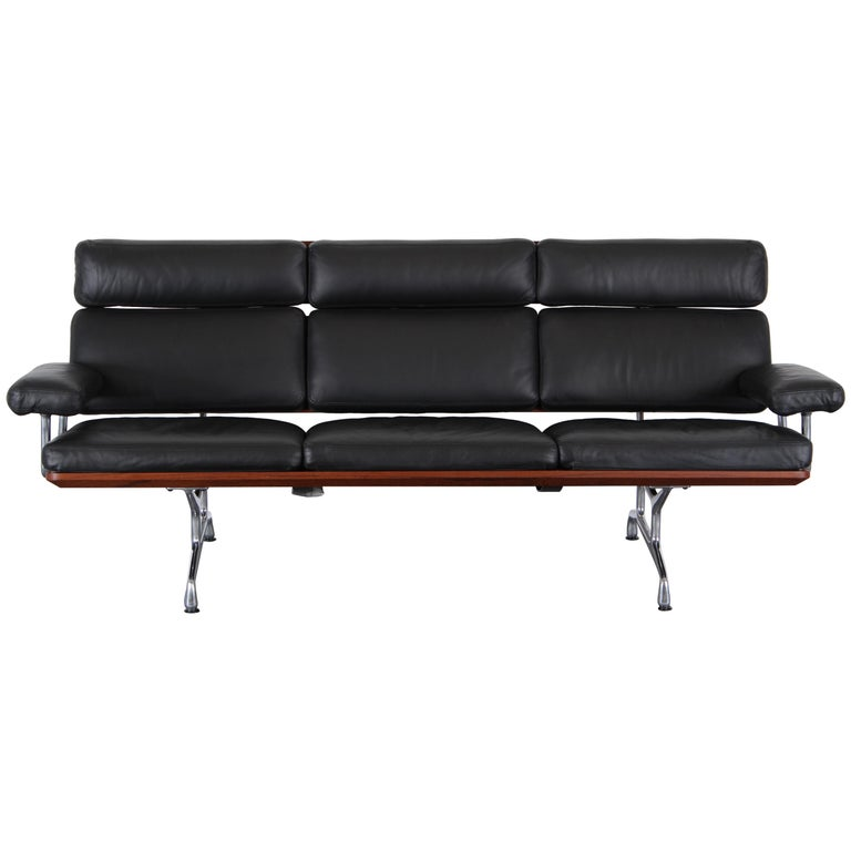 Eames Soft Pad Leather Sofa #2 for Herman Miller, 1984