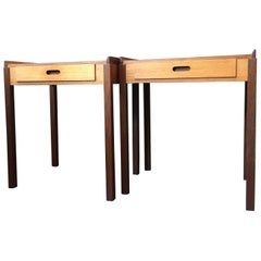 Midcentury Danish Nightstands, Teak, Modernist