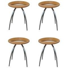 Set of Four Magis Lyra Stools by the Design Group Italia