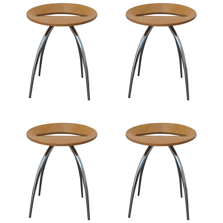 Set of Four Magis Lyra Stools by the Design Group Italia For Sale