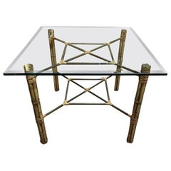 McGuire Bamboo and Brass Dining Table