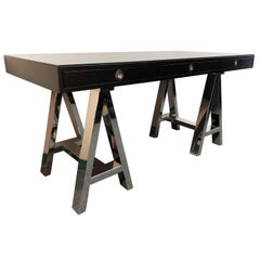 Williams-Sonoma Home Mason Ebony Nickel Base Desk