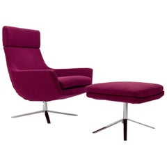 BPA International Jill Lounge Chair & Ottoman