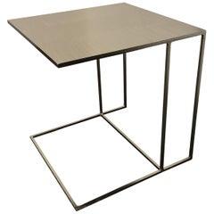 Rodolfo Dordoni Leger Brushed Plate Metal Side Table for Minotti