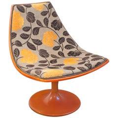 1970s Fiberglass Orange Tulip Lounge Chair
