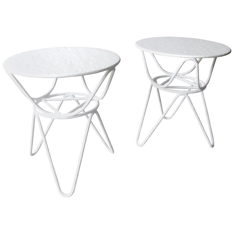 Pair of Picasso End Tables by Mr. Brown of London For Sale
