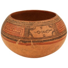 Pre-Columbian Nicoya Pottery Bowl from Costa Rica