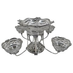 Antique Scottish Regency Revival Sterling Silver Epergne