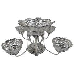 Antique Scottish Regency Revival Sterling Silver Epergne