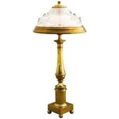 Desk or Table Lamp Ezan Style Glass Brass Light French Belle Epoque