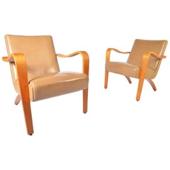 Pair of 1940s Thonet Bentwood Lounge Chairs