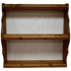 Pine Hanging Shelf or Plate Rack